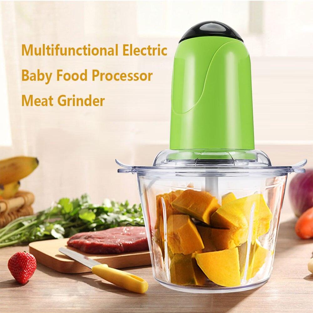 Moedor de carne elétrico cozinha misturadores alimentos com lâmina moedor de carne multifuncional processador de alimentos misturador frutas liquidificador|Moedores de carne| |  -