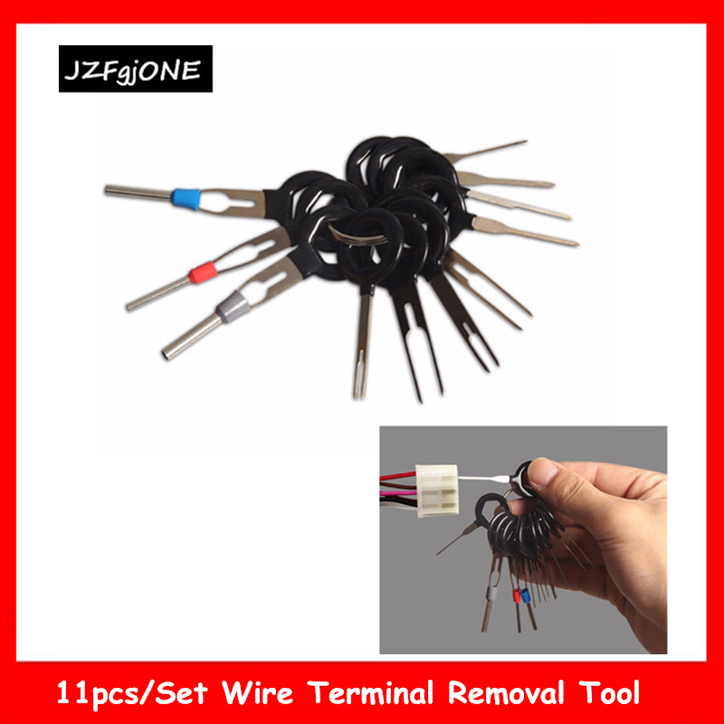 11Pcs/set Car Terminal Removal Tool Electrical Wiring Crimp Connector Pin Extractor Kit Hand-held Disassembly Tools Kit
