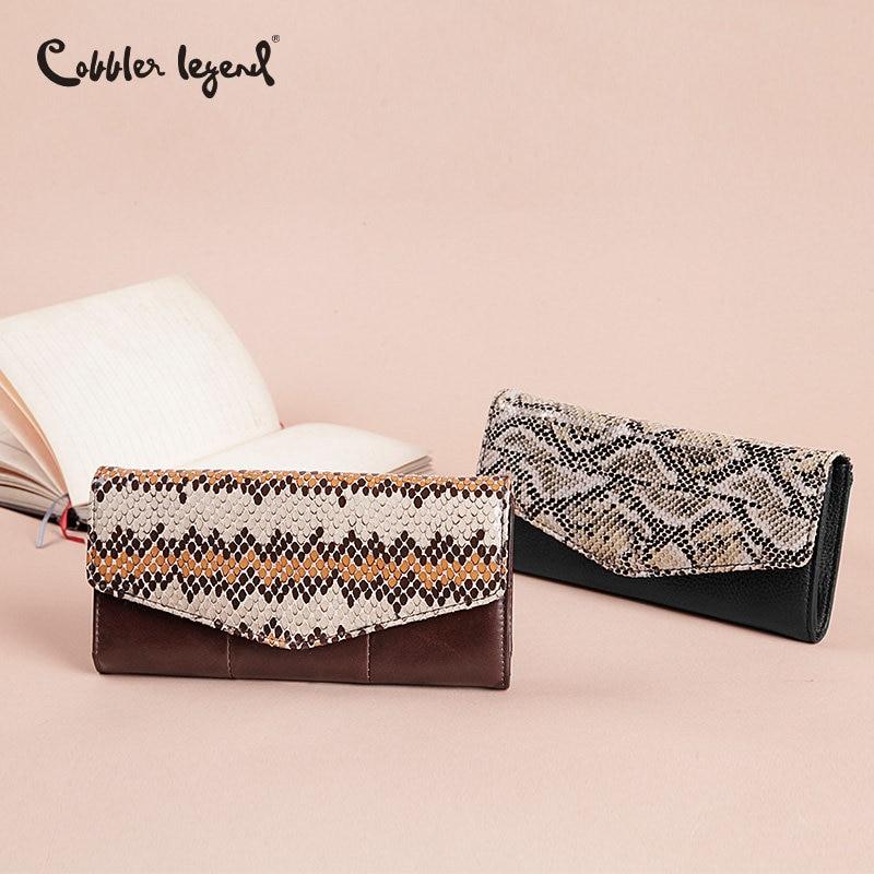Cobbler Legend 2019 Serpentine Genuine Leather Wallet Women's Wallets
