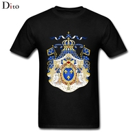 Royal Coat Of Arms Of France Tee Shirt For Men Demin Custom Short Sleeve Valentine S