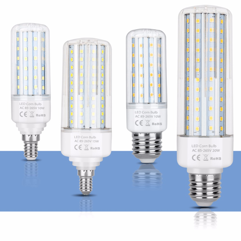 LED Corn Lamp Bulb E27 220V E14 LED Energy Saving Light Bulb Power LED 5W 10W 15W 20W 110V home Bombillas Smart IC No Flicker