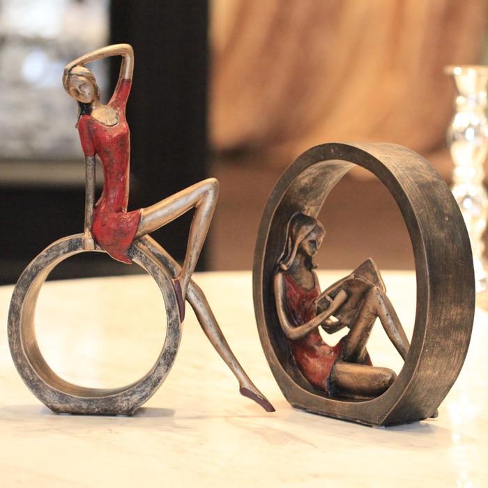 Rétro nostalgie salon Place personnages artisanat cadeaux décoration de la maison accessoires résine Cabochon