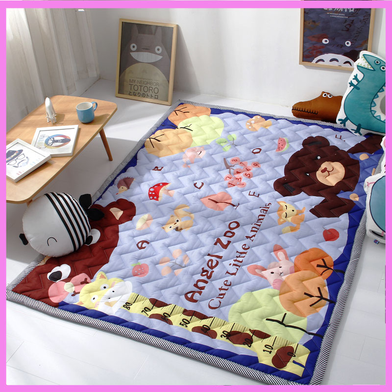 Baby Crawling Mat Activity Game Playmat Cartoon Children Climbing Mat Baby Gym Play Mat Rug Living Room Non-slip Game Blanket body slimming relax massage new dance pad non slip dancing step dance game mat pad for pc blanket relax tone leisure recreation