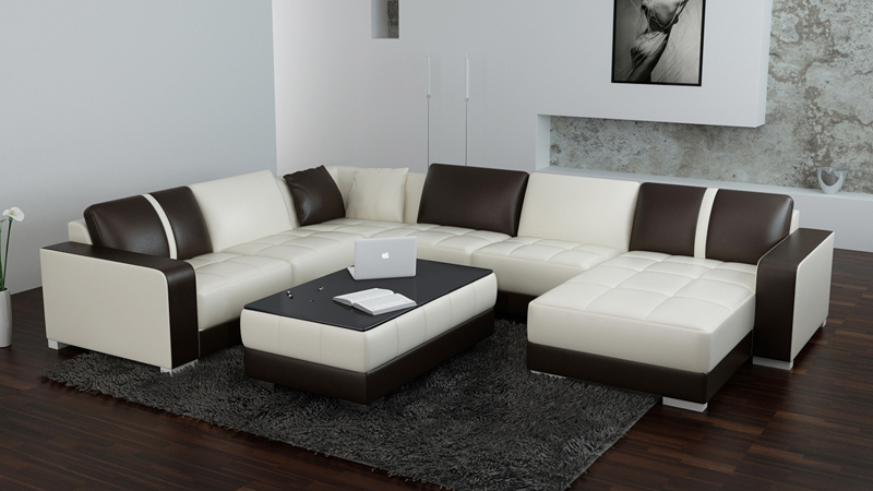 hot on sale genuine leather living room sofa
