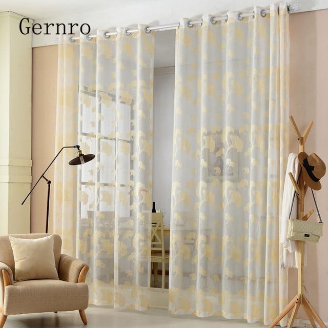 gernro gordijn 1 st golden ginkgo blad gordijnen woonkamer gratis verzending tulle gordijnen stoffen gordijnen slaapkamer