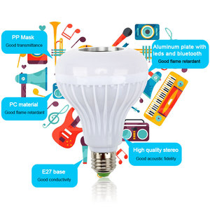 Image 2 - Smart E27 RGB Bluetooth Speaker LED Bulb Light 12W Music Playing Dimmable Wireless Led Lamp with 24 Keys Remote Control