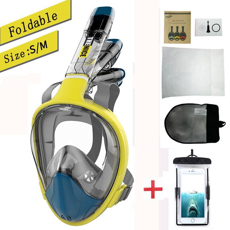 Masque de plongée masque de plongée pliant Anti-buée natation sous-marine pêche masque de chasse équipement de plongée sous-marine masque de plongée professionnel