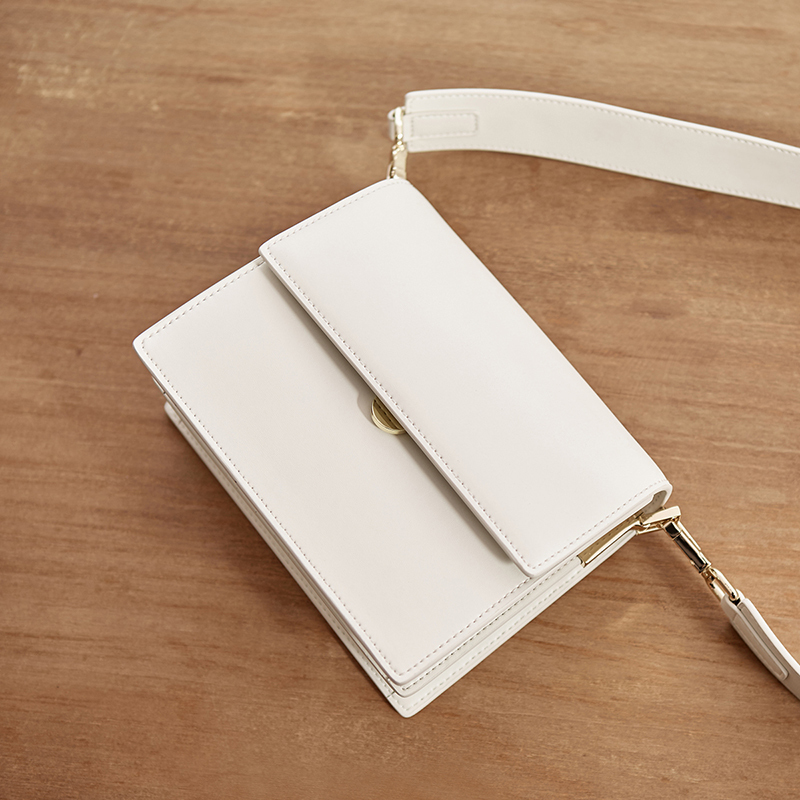 Package New Pattern Genuine Leather Single Shoulder Messenger Mini Small Square designer handbags tote vintage korean Style hot - 4