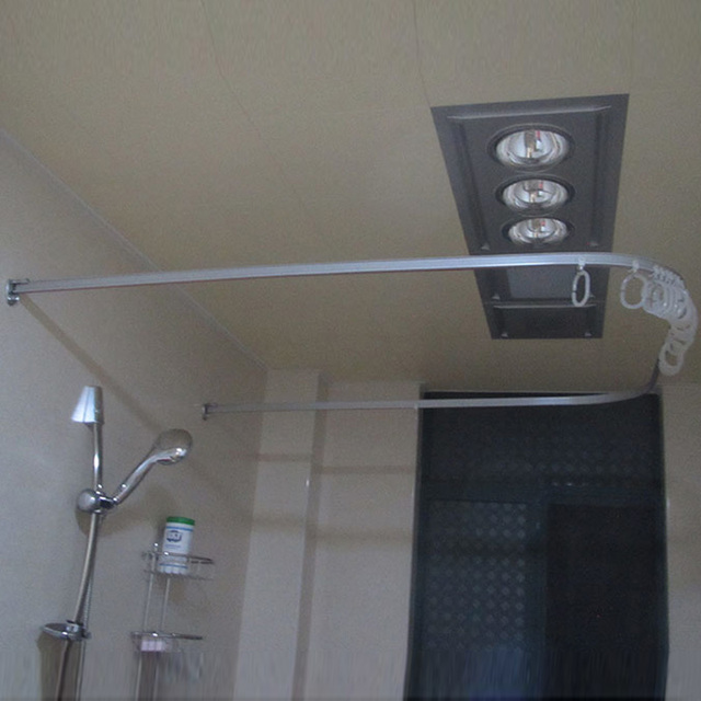 L shaped shower curtain rod U shaped square U shaped curved shower ...