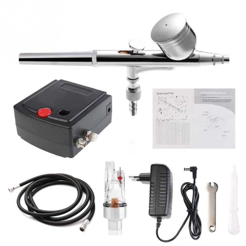 Komplett Precision Airbrush Tattoo Tool Set Modellspecifik luftpumpe Kit med kompressor Spray Air Brush Gun Set