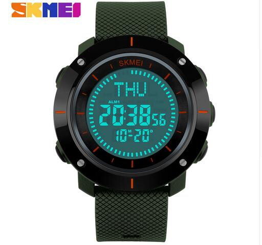 SKMEI Men Sport Watch Compass Chronograph Digital LED Electronic Multifunction Watch Outdoor Sports Climbing Hiking Man