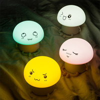 Cute silicone LED night light USB Rechargeable touch switch table lamps baby bedroom mini night lights indoor lighting