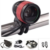 New CREE XML T6 LED 1800Lm Zoom Zoomable Bike Light Bicycle Head Light Headlamp Adjustable Flashlight