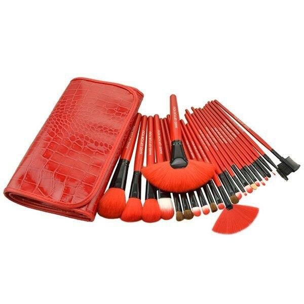 New Arrival! Red Makeup Brushes Set & Kits 24 pcs 24pcs Makeup Brushes Professional Makeup Tools Brand Cosmetics Facial Brushes