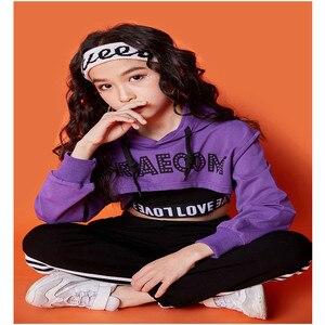 Image 3 - בנות clothings בגדי 10 12 שנה ארוך שרוול ג אז ריקוד תלבושות לילדים היפ הופ הסווטשרט למעלה תלבושות ילדים בנות