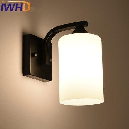 IWHD Loft Vintage Industrial Lighting Wall Lamp Black Retro Wall Light Fixtures Bedroom Lighting Stairs Wandlamp Arandela