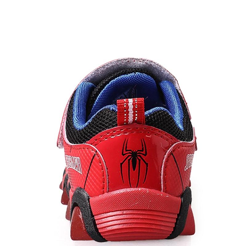 Neue Herbst Frühling Kinder Schuhe Spiderman Nacht Flash-Sport Turnschuhe Licht Schuhe für Kinder kinder Sneaker Jungen stiefel Mädchen