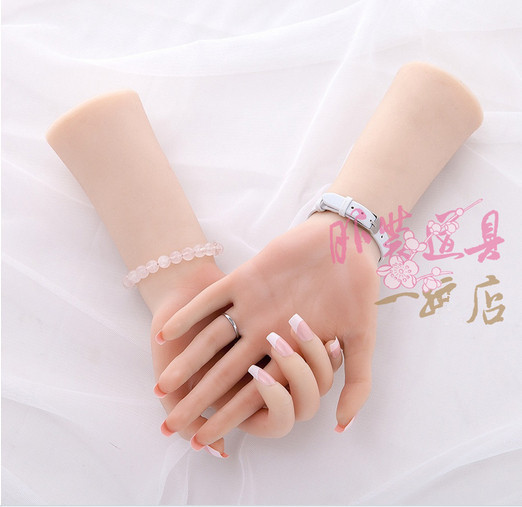 Free shipping! Luxury High Quality Realistic Human Silicone Hand Manikin Hands Model Female Hand Mannequin
