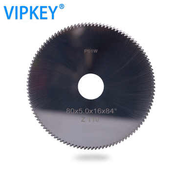 P01W Carbide tungsten key blade cutter 80*5*16mm*110T saw blade for SILCA BRAVO, BIANCHI,DUO,POKER PLUS key cutting machines