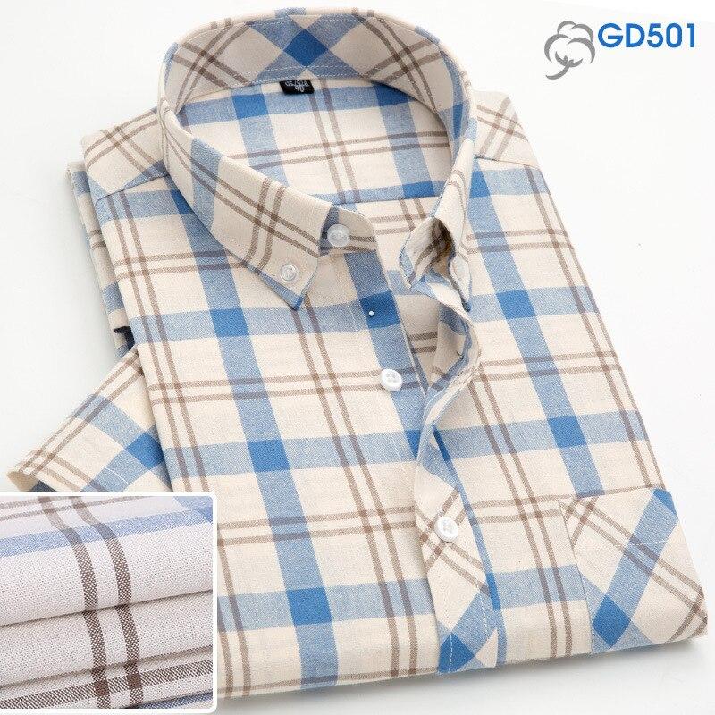 Constructive Plaid Shirts Men Long Casual Free Iron Spring Summer Cotton Business Formal Dress Male Shirts Man Plus Size 5xl Brand 2019 Muls More Discounts Surprises Shirts Casual Shirts