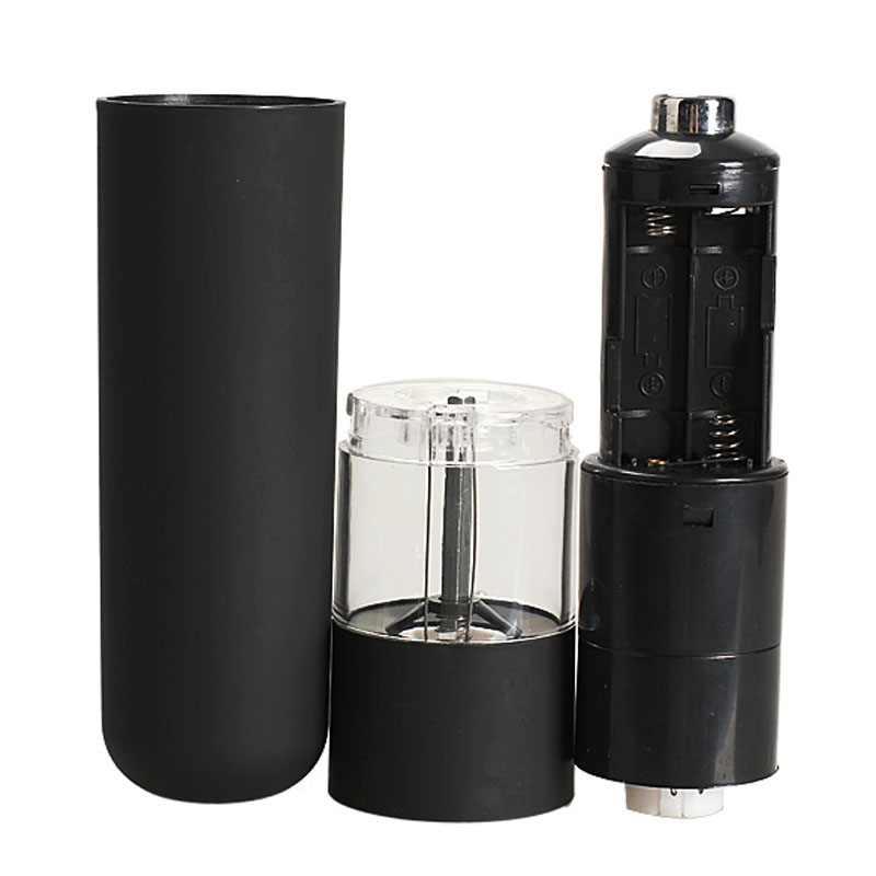 Best Price Electric Salt Spice Herb Pepper Mills Grinder with LED Light Black High Quality