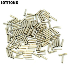 LOTITONG 100pcs/lot fishing stainless steel fishing line Crimp sleeve copper tube 0.8mm-3.4mm sea fishing accessories line tube(China)