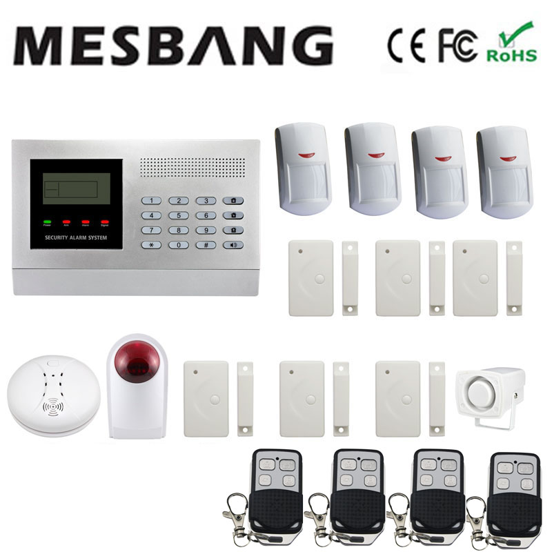 2017 Gsm Home Alarm System Wireless With Outdoor Wirless Siren Wireless Smoking Sensors Free Shipping By Dhl Fast