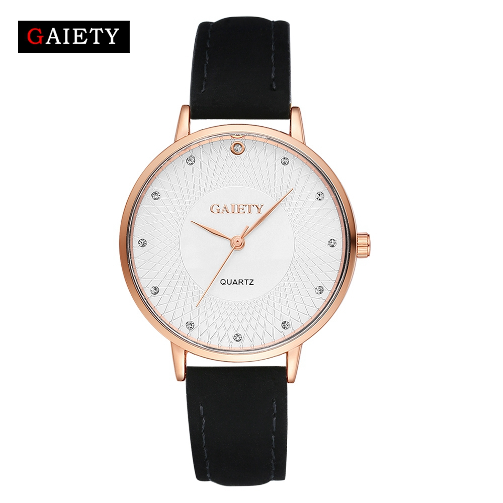 Fashion New Rose Gold Women Watches Luxury Bracelet Dress Watch Leather High Quality Ladies Quartz Watch Woman Wristwatch G116 hot sale luxury crystal rose gold high quality leather quartz gift watch wristwatch for women ladies girls 1 year warrenty