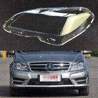 For Mercedes Benz W204 C180 C200 C260 2011 2012 2013 Car Headlight Headlamp Clear Lens Auto Shell Cover