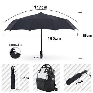 Image 2 - TOPX New Big Strong Fashion Windproof Umbrella Men Gentle 3Fold Compact Fully Automatic Rain High Quality Pongee Umbrella Women