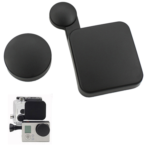 2015 New Camera Lens Cap Cover+Housing Case Protector for Gopro HD Hero 3 Accessories 1V8N 59BV