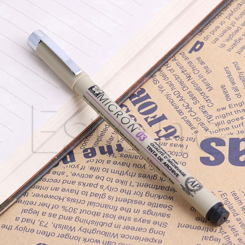 1PC New Sakura Pigma Micron Fine Line Pen 01 02 03 04 05 08 005 1.0 Art Supplies Fine art pens new
