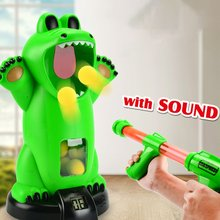 Shooting Crocodile Space Gun Toy Aerodynamic Soft Bullet Gun Boy Toy Gun  Intellectual Development Toy neje st0008 1 ghost hunting shooting interactive laser gun shooter toy light grey black