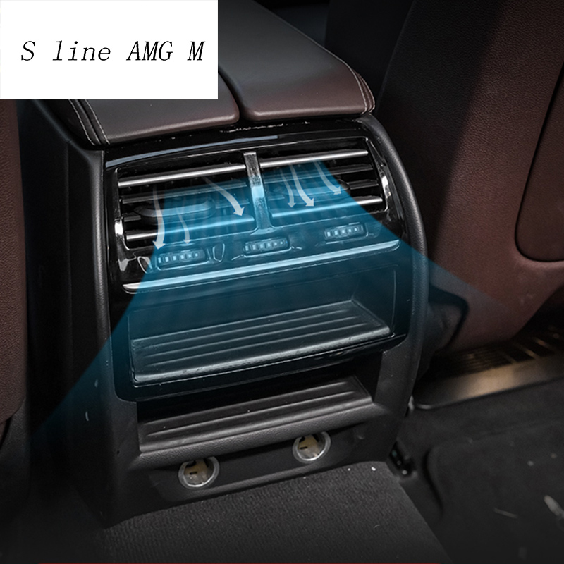 For <font><b>BMW</b></font> G30 G38 <font><b>F10</b></font> 5 Series Rear air conditioning vent decorative frame air outlet trim <font><b>sticker</b></font> Cover Interior auto Accessories image