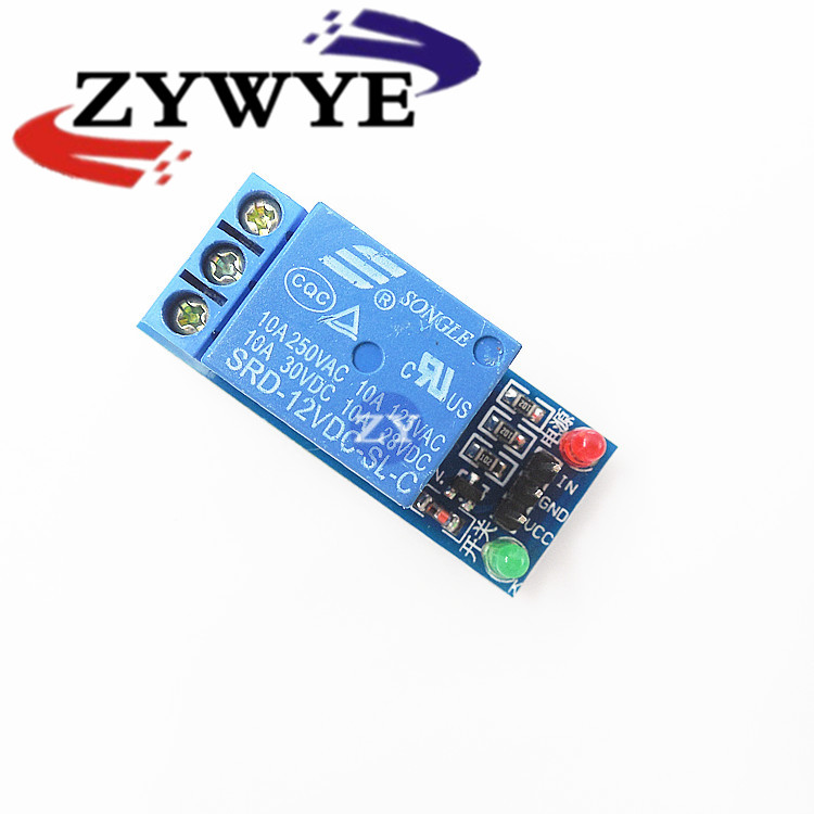 ZYWYE 1PCS 5V low level trigger One 1 Channel Relay Module interface Board Shield For PIC AVR DSP ARM MCU Arduino  12v 8 channel relay module board for pic avr mcu dsp arm electronic new original