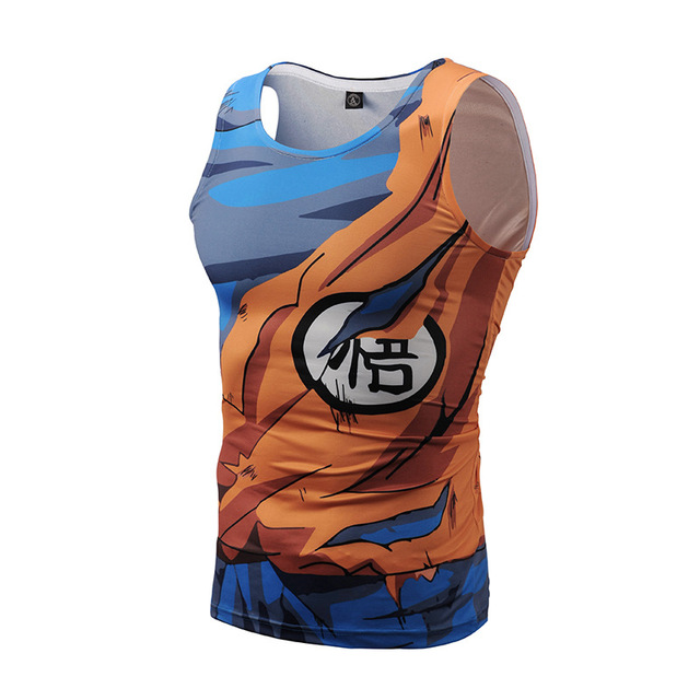 Dragon Ball Z Tight Tank Tops Men Sleeveless Vest Summer Style Jersey 3D Print Shirt 2