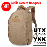 Tactical Molle Army Backpack 38L 500D Fabric Military Bag Unisex Waterproof Backpack Army Bag Solid Hunting Bag PP5 0070