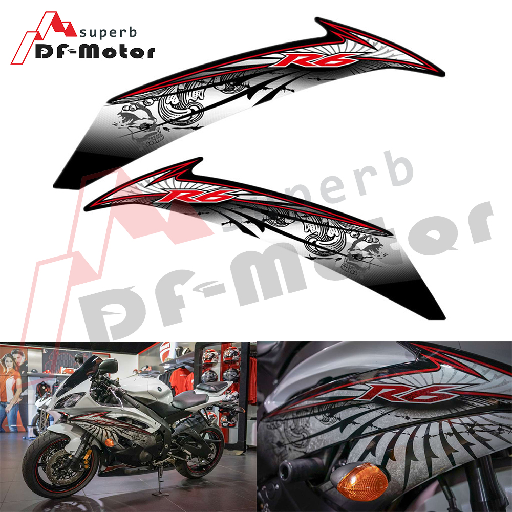 High Quality For YAMAHA YZF-R6 R6 2008 2009 2010 2011 2012 2013 2014 2015 Reflective Full Car Sticker Decal Fairing