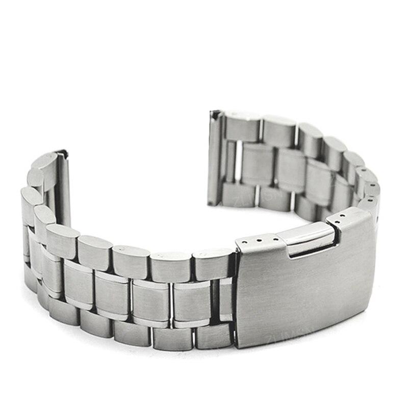 ZLIMSN rostfritt stål klockband 18mm 20mm 22mm 24mm 26mm svart - Tillbehör klockor - Foto 3