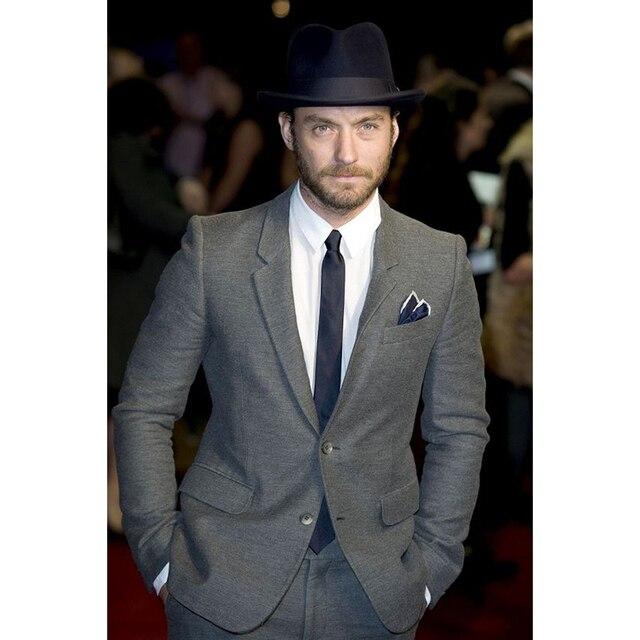 Classico grigio abiti da uomo 2017 Inglese intaglio Risvolto vestito da uomo  slim moda uomo vestito 11ace8ea6e6