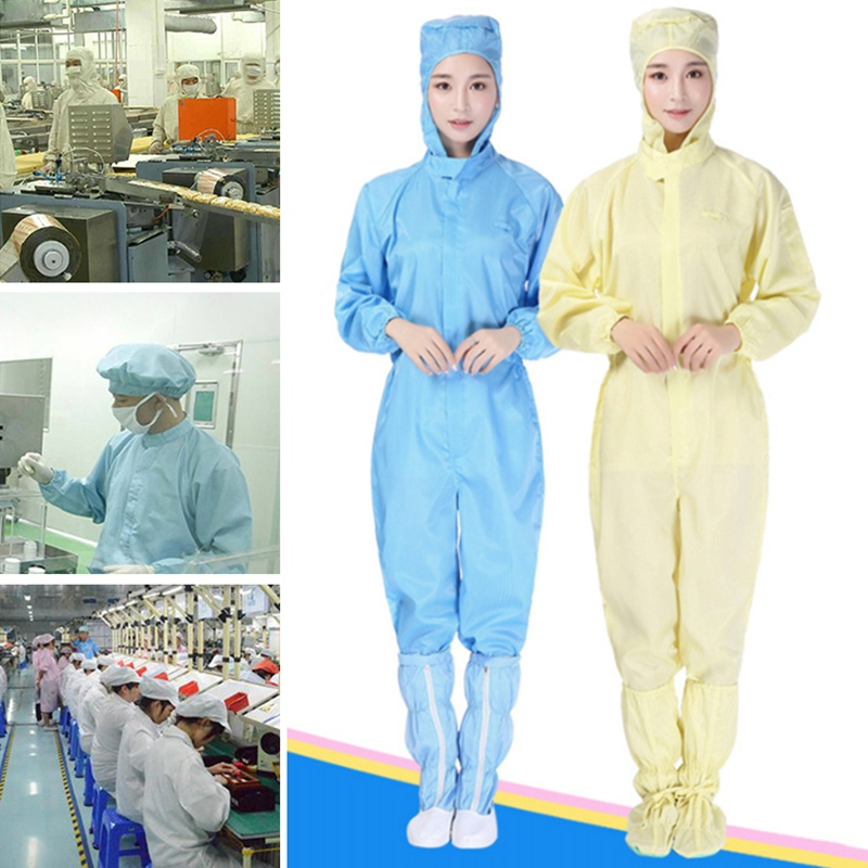 Men Women Anti-static Clothing Hooded Dust-proof Coveralls Cleanroom Garments Factory Clean Food Paint Work Protective ClothingMen Women Anti-static Clothing Hooded Dust-proof Coveralls Cleanroom Garments Factory Clean Food Paint Work Protective Clothing