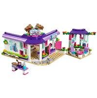 423Pcs Girls Series Building Blocks Toy 41336 Art Cafe Set LEPIN Compatible LegoINGlys Bricks Kids Toys 01060