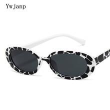 Ywjanp 2018 New Sunglasses Women Fashion Brand Designer Oval Sun glasses Men Cat Eyes Retro Transparent Lens Glasses UV400