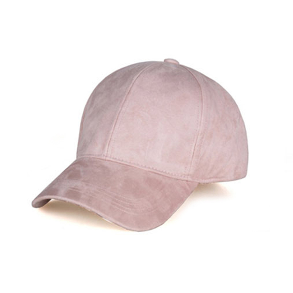 High Quality Unisex Spring Summer Adjustable Artificial Suede Baseball Cap Hat Solid Color Hats chic ice cream color suede baseball hat
