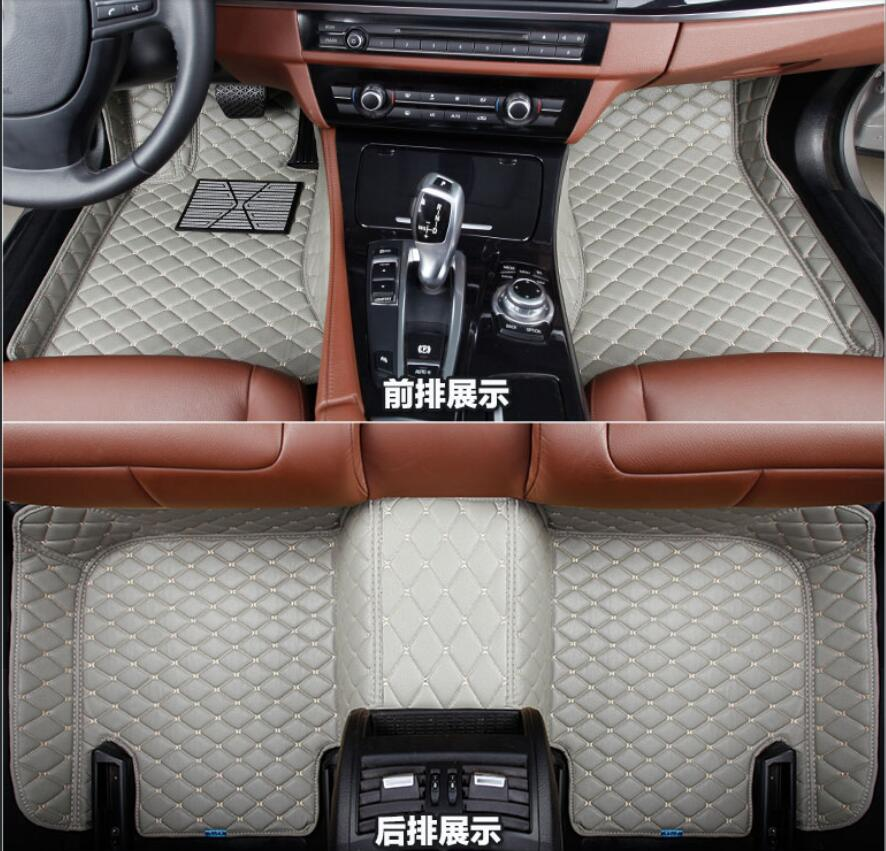 Interior Leather Carpets Cover Car Foot Mat Floor Pad 5 seats For Toyota Land Cruiser Prado FJ150 2010 2011 2012 2013 все цены