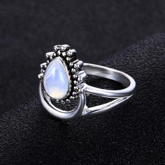 925 Silver Women's Vintage Punk Jewellery Ring 3