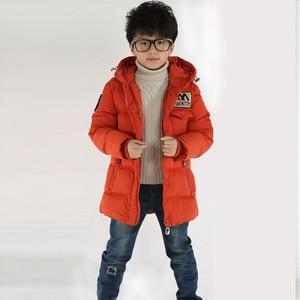 Image 3 - 2018 חדש בגדי ילדים בני כותנה מעיל ילד חם עבה חורף מעיל מעיל ילד כותנה מרופדת חורף מעיל סלעית