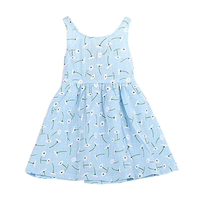 Arloneet Платье без рукавов для девочек и малышей Платье–пачка с принтом и бантом летние jan29/p