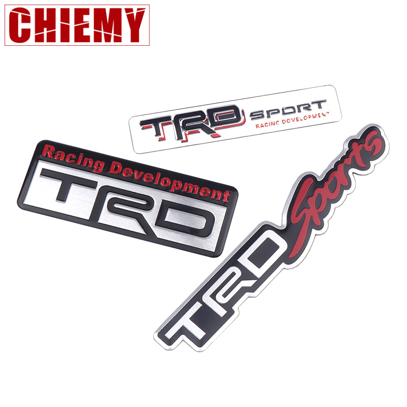 Car Styling 3D Racing Development TRD Sticker Emblem Decal For Toyota Car Tail Fender Exterior Body Decoration Auto Accessories