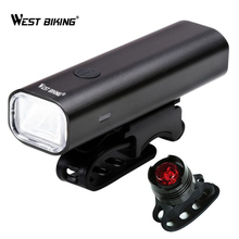 WEST BIKING Bike Light Set Front Rear Warning Lights Bicycle Headlight Back Lamp LED Cycling Safety Lights Bike Torch Lamps Sets цена